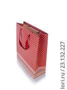 Купить «Shopping bag isolated on white background», фото № 23132227, снято 12 мая 2016 г. (c) Elnur / Фотобанк Лори