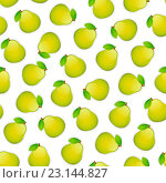 Бесшовный фон с грушами. Стоковая иллюстрация, иллюстратор Viachaslau Vaitsenok / Фотобанк Лори