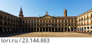 Купить «Berria Square (New Square) and city hall. Vitoria-Gasteiz», фото № 23144883, снято 22 июля 2019 г. (c) Яков Филимонов / Фотобанк Лори