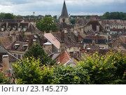 Крыши средневекового города. Франция (2016 год). Стоковое фото, фотограф Stjarna / Фотобанк Лори