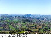 Купить «Сан Марино и Апеннинские горы. Вид на гору Монте-Титано», фото № 23146335, снято 6 ноября 2013 г. (c) Евгений Ткачёв / Фотобанк Лори