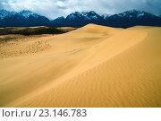 Купить «Урочище Чарские пески в районе хребта Кодар Забайкалье», фото № 23146783, снято 3 мая 2013 г. (c) Денис Черкашин / Фотобанк Лори