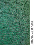 Деревянная доска с потресканной краской зеленного цвета. Стоковое фото, фотограф Christina Shart / Фотобанк Лори