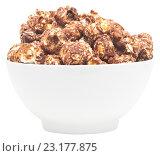Купить «Попкорн в чашке на белом фоне», фото № 23177875, снято 29 июня 2016 г. (c) Насыров Руслан / Фотобанк Лори