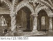 Купить «Rosslyn Chapel, the Collegiate Chapel of St Matthew, Roslin, Midlothian, Scotland, 19th century.», фото № 23180551, снято 10 июня 2016 г. (c) age Fotostock / Фотобанк Лори