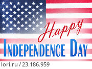 Купить «close up of american flag on independence day», фото № 23186959, снято 6 мая 2016 г. (c) Syda Productions / Фотобанк Лори