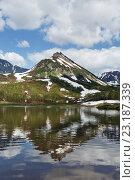 Купить «Полуостров Камчатка, горный массив Вачкажец», фото № 23187339, снято 21 июня 2016 г. (c) А. А. Пирагис / Фотобанк Лори