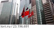 Купить «Современный деловой и финансовый центр. Абстрактные городской вид с современными небоскребами. Гонконг», фото № 23196691, снято 15 января 2016 г. (c) Chere / Фотобанк Лори