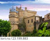 Castle of Olite in summer evening. Navarre (2016 год). Стоковое фото, фотограф Яков Филимонов / Фотобанк Лори