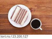 Чашка кофе со сладкими вафлями. Стоковое фото, фотограф Владимир Семенчук / Фотобанк Лори