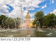Купить «Здание Адмиралтейства и фонтан в саду, Санкт-Петербург», фото № 23219739, снято 20 июня 2015 г. (c) Anna P. / Фотобанк Лори