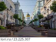 Купить «Обновлённый переулок Соборный», фото № 23225307, снято 3 июля 2016 г. (c) Борис Панасюк / Фотобанк Лори