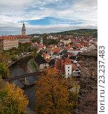 Осенний город Чески-Крумлов. Чехия (2014 год). Стоковое фото, фотограф Анна Сапрыкина / Фотобанк Лори