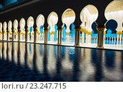 Купить «Мечеть шейха Зайда, Абу Даби, ОАЭ», фото № 23247715, снято 5 ноября 2013 г. (c) Олег Жуков / Фотобанк Лори