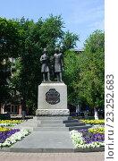 Купить «Памятник А.Пушкину и В.Далю в Оренбурге», фото № 23252683, снято 23 июня 2016 г. (c) Татьяна Кахилл / Фотобанк Лори