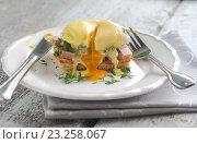 Купить «Яйца Бенедикт», фото № 23258067, снято 3 июля 2013 г. (c) Tetiana Chugunova / Фотобанк Лори