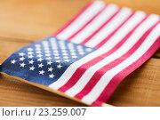 Купить «close up of american flag», фото № 23259007, снято 6 мая 2016 г. (c) Syda Productions / Фотобанк Лори