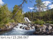 Купить «Алтай. Водопад», фото № 23266067, снято 22 августа 2013 г. (c) Gagara / Фотобанк Лори