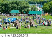 Купить «Сабантуй в Коломенском. Москва», фото № 23266543, снято 17 июля 2016 г. (c) Екатерина Овсянникова / Фотобанк Лори