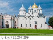 Купить «Собор Святой Софии в Великом Новгороде», фото № 23267299, снято 15 июля 2016 г. (c) Зезелина Марина / Фотобанк Лори