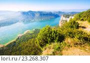 View of reservoir in autumn day. Catalonia. Стоковое фото, фотограф Яков Филимонов / Фотобанк Лори