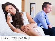 Купить «Spouses having bad argue», фото № 23274843, снято 17 марта 2018 г. (c) Яков Филимонов / Фотобанк Лори