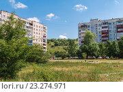 Район Михайлово в г.Майкопе (2013 год). Стоковое фото, фотограф LenaLeonovich / Фотобанк Лори