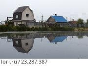 Дома на берегу озера. Стоковое фото, фотограф Владимир Иванов / Фотобанк Лори
