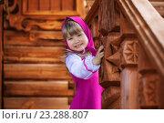 Улыбающаяся девочка в костюме Машеньки. Стоковое фото, фотограф Tanya Ischenko / Фотобанк Лори