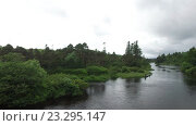 Купить «men fishing on river bank in ireland valley 4», видеоролик № 23295147, снято 23 июня 2016 г. (c) Syda Productions / Фотобанк Лори
