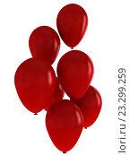 Красные шарики. Стоковая иллюстрация, иллюстратор Алексей Романенко / Фотобанк Лори