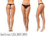 Купить «female legs and bottom in black bikini panties», фото № 23301951, снято 12 июня 2012 г. (c) Syda Productions / Фотобанк Лори