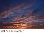 Послесвечение в голубой дымке  неба летом  на закате. Стоковое фото, фотограф Сергей Кудрявцев / Фотобанк Лори