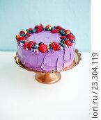 Торт с ягодами. Стоковое фото, фотограф Елена Поминова / Фотобанк Лори