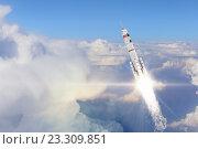Rocket Space Ship . Mixed media, фото № 23309851, снято 18 мая 2012 г. (c) Sergey Nivens / Фотобанк Лори