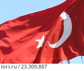 Флаг Турции. Стоковое фото, фотограф Фёдор Ромашов / Фотобанк Лори