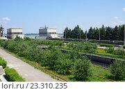 Купить «Система шлюзов на Волгоградском гидроузле», фото № 23310235, снято 27 июня 2016 г. (c) Татьяна Кахилл / Фотобанк Лори