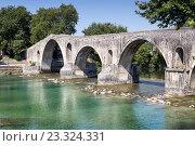 Купить «Знаменитый мост в Арте (Эпир, Греция)», фото № 23324331, снято 22 июля 2016 г. (c) Татьяна Ляпи / Фотобанк Лори