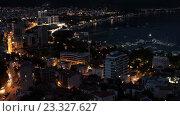 Купить «Вечер в Будве. Черногория. Таймлапс», видеоролик № 23327627, снято 19 июня 2016 г. (c) Кекяляйнен Андрей / Фотобанк Лори
