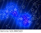 Купить «Звездочки на темно-синем полосатом фоне», иллюстрация № 23344523 (c) Николай Полыгалин / Фотобанк Лори