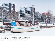 Купить «Турку, Финляндия. Корабль-ресторан», фото № 23345227, снято 17 января 2016 г. (c) EugeneSergeev / Фотобанк Лори