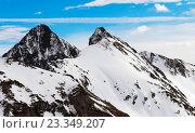Высокие горные вершины. Стоковое фото, фотограф Павел / Фотобанк Лори