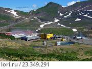 Мутновская геотермальная станция. Стоковое фото, фотограф Валерий Трубицын / Фотобанк Лори