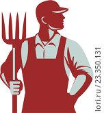 Купить «Фермер с вилами», иллюстрация № 23350131 (c) Aloysius Patrimonio / Фотобанк Лори