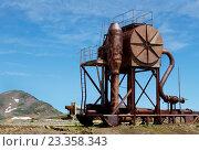 Старый ржавый промышленный агрегат неизвестного назначения. Стоковое фото, фотограф Валерий Трубицын / Фотобанк Лори