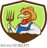 Купить «Петух в одежде фермера», иллюстрация № 23362571 (c) Aloysius Patrimonio / Фотобанк Лори