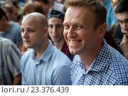 Купить «Russian opposition leader Alexey Navalny participates opposition rally in central park Sokolniki in Moscow, Russia», фото № 23376439, снято 9 августа 2016 г. (c) Николай Винокуров / Фотобанк Лори