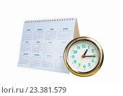 Часы и календарь. Стоковое фото, фотограф Сергей Овчинников / Фотобанк Лори