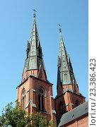 Купить «Шпили Уппсальского кафедрального собора. Швеция.», фото № 23386423, снято 26 июля 2016 г. (c) Щелкотунова Любовь / Фотобанк Лори