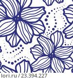 Бесшовный цветочный фон. Стоковая иллюстрация, иллюстратор Назарова Мария / Фотобанк Лори